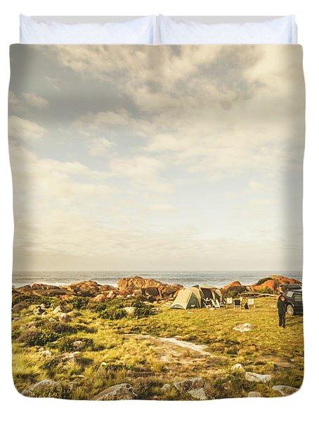 Camping, Driving, Trekking Duvet Cover