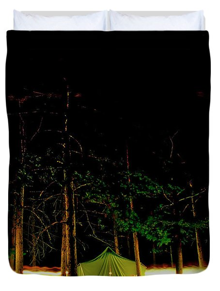 Camping In The Deep Woods   Duvet Cover