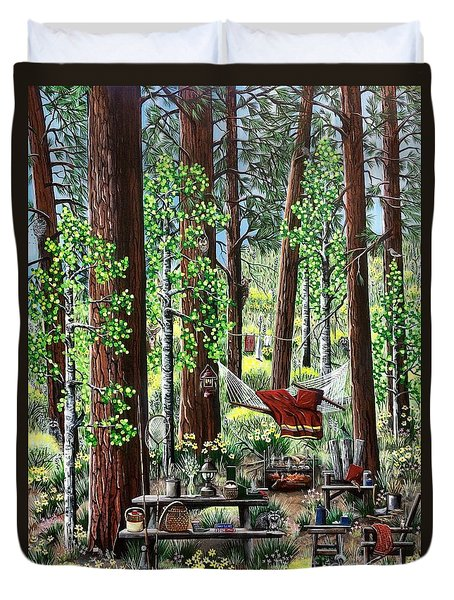 Camping Paradise Duvet Cover