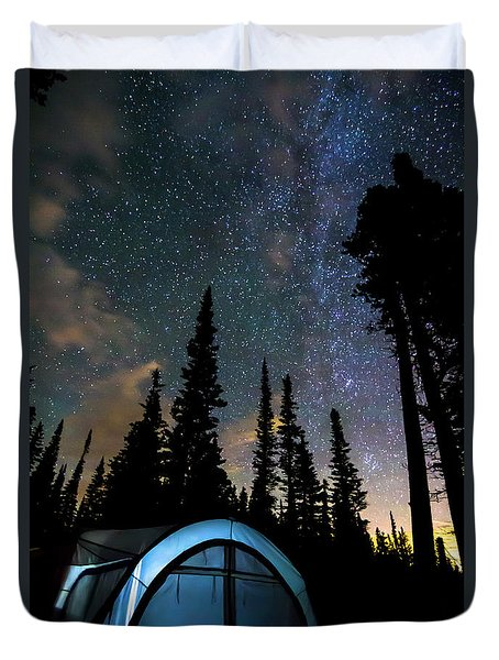 Duvet Cover featuring the photograph Camping Star Light Star Bright by James BO Insogna