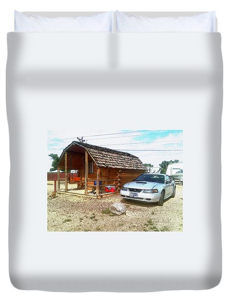 Camping These Days Duvet Cover