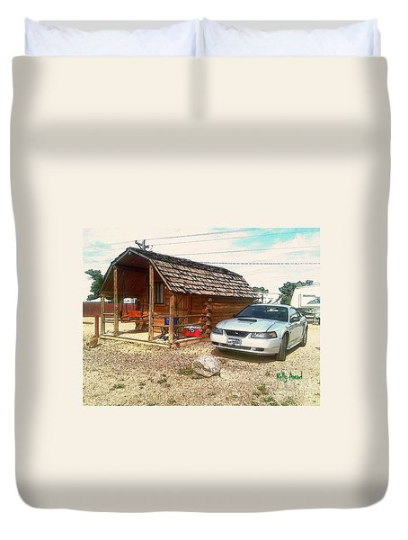 Camping These Days Signed Duvet Cover