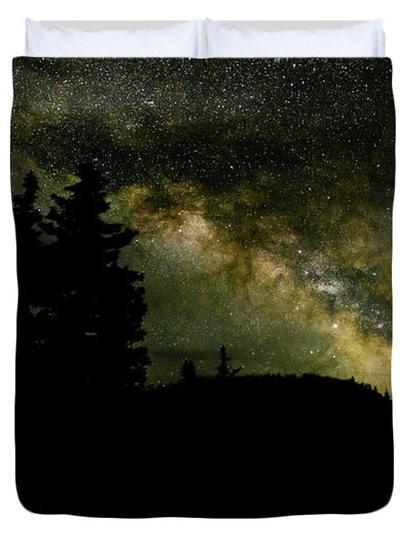 Camping Under The Milky Way 2 Duvet Cover