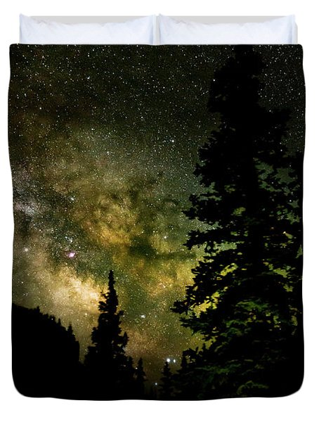Camping Under The Milky Way Duvet Cover