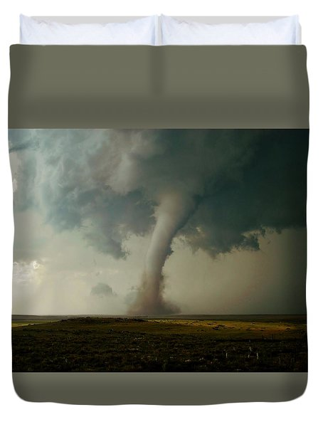 Campo Tornado Duvet Cover by Ed Sweeney