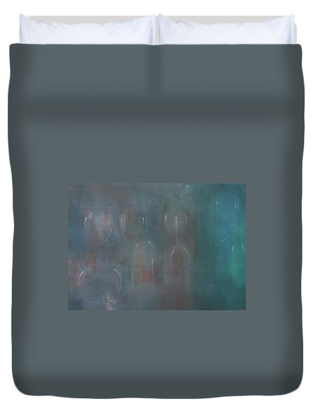 Can You Hear The News Of Tomorrow? Duvet Cover