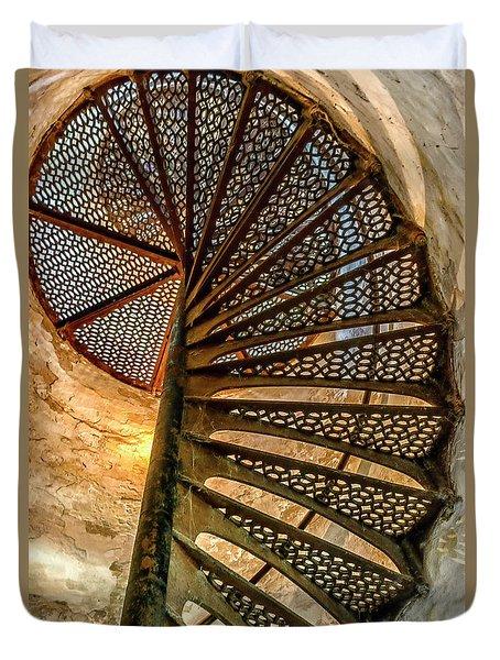 Cana Island Lighthouse Staircase Duvet Cover