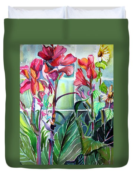 Cana Lily And Daisy Duvet Cover