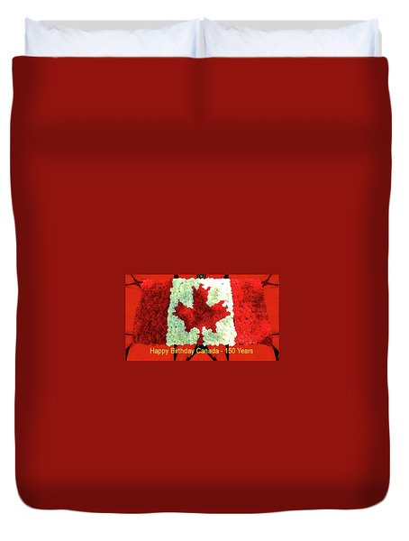 Canada 150 Years Duvet Cover