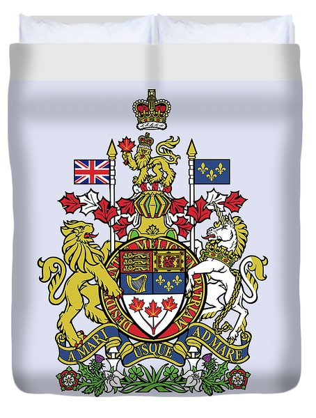 Canada Coat Of Arms Duvet Cover by Movie Poster Prints