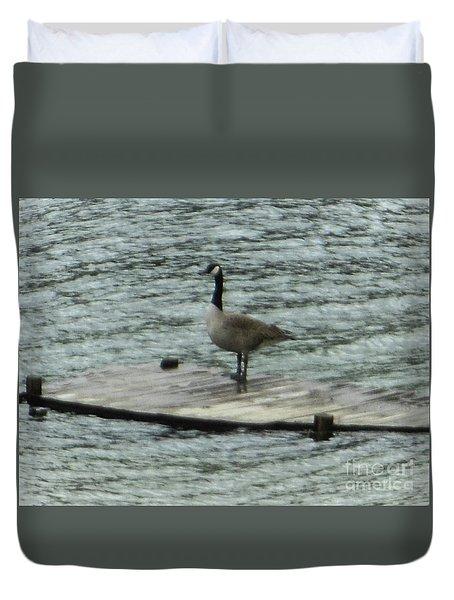 Canada Goose Lake Dock Duvet Cover