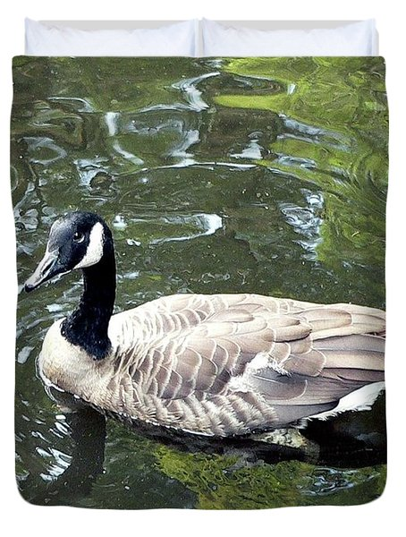 Canada Goose Pose Duvet Cover by Al Powell Photography USA