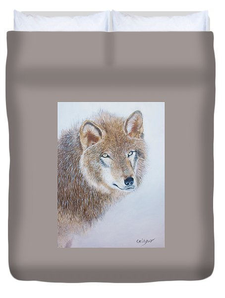 Canada Grey Wolf. Duvet Cover