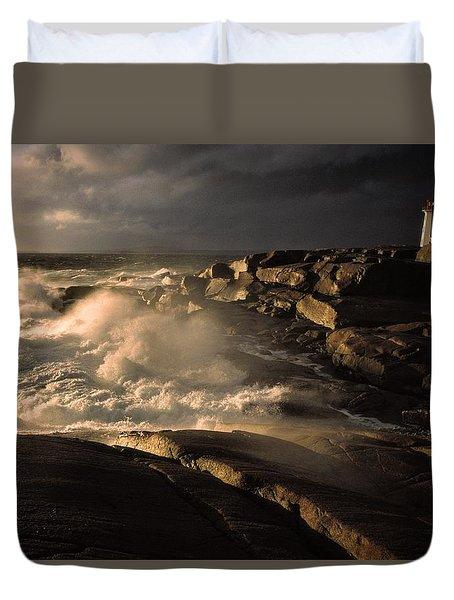 Canada Nova Scotia Peggy's Cove Duvet Cover