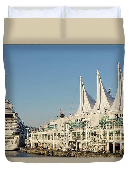 Canada Place Cruise Ship  Duvet Cover