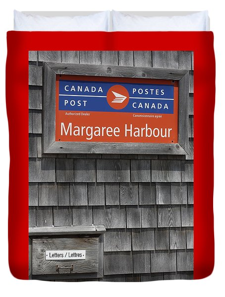 Duvet Cover featuring the photograph Canada Post by Robin Regan