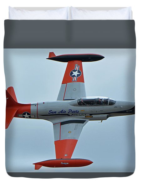 Canadair Ct-133 Silver Star Nx377jp Pacemaker Chino California April 30 2016 Duvet Cover by Brian Lockett