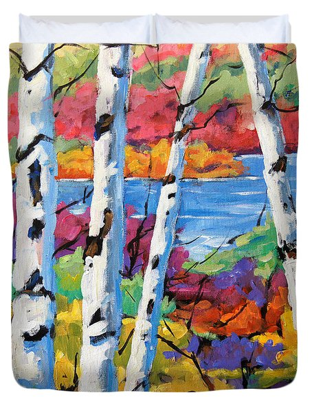 Canadian Birches By Prankearts Duvet Cover by Richard T Pranke