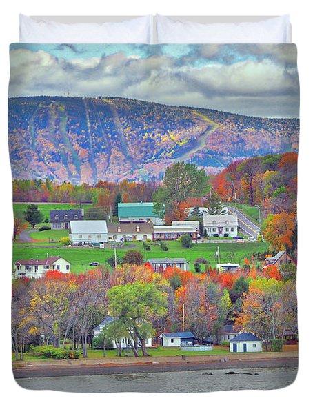 Canadian Fall Foliage Duvet Cover