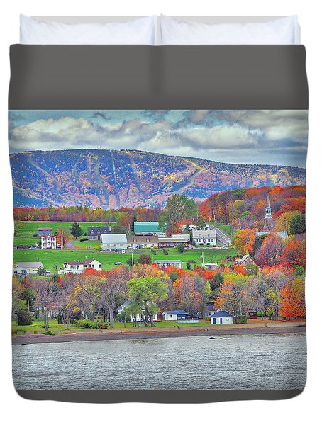Canadian Fall Foliage Duvet Cover