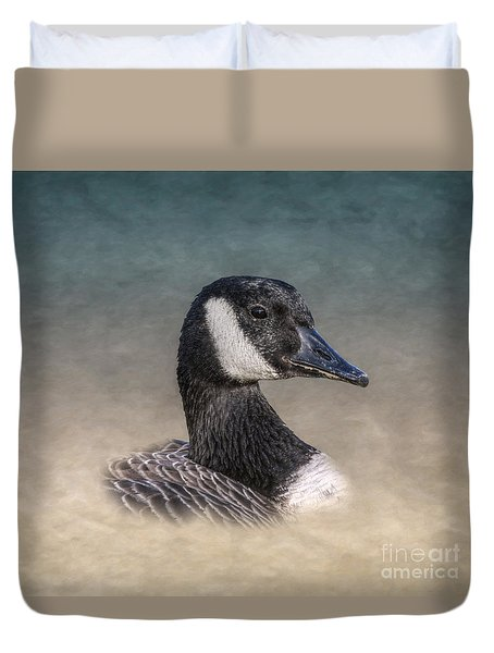 Canadian Goose Duvet Cover by Randy Steele
