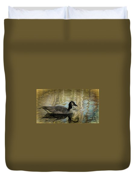Canadian Goose Duvet Cover by Steven Richardson