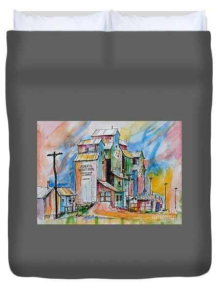 Canadian Grain Elevators Duvet Cover by Terry Banderas