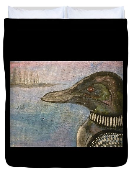 Canadian Loon Duvet Cover