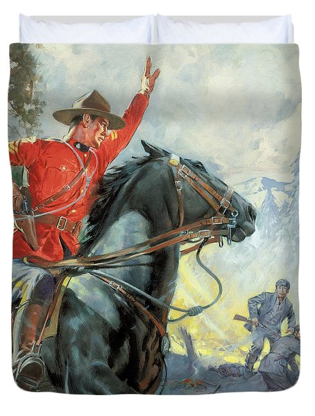 Canadian Mounties Duvet Cover by James Edwin McConnell