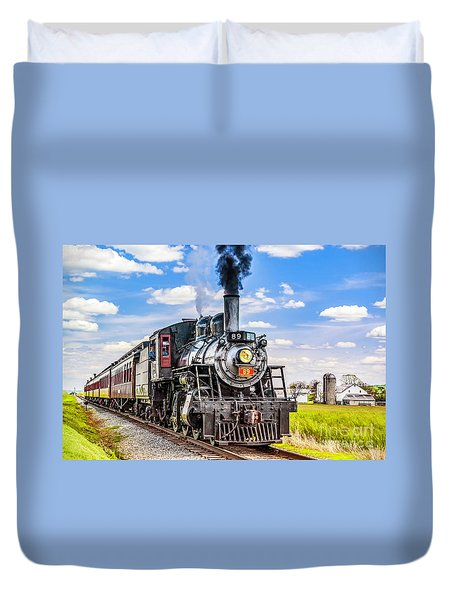 Duvet Cover featuring the photograph Canadian National 89 by Nick Zelinsky