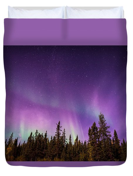 Canadian Northern Lights Duvet Cover by Serge Skiba