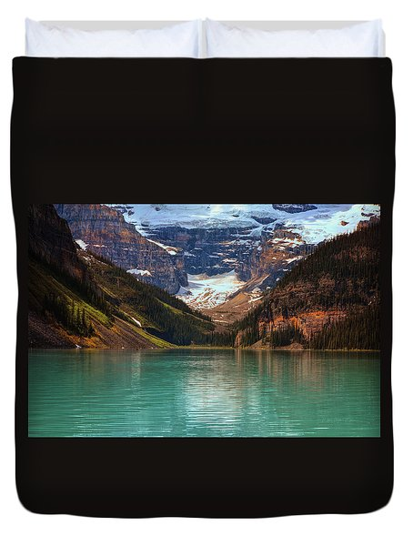 Canadian Rockies In Alberta, Canada Duvet Cover