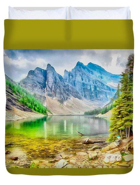 Canadian Rockies Duvet Cover by Maciek Froncisz