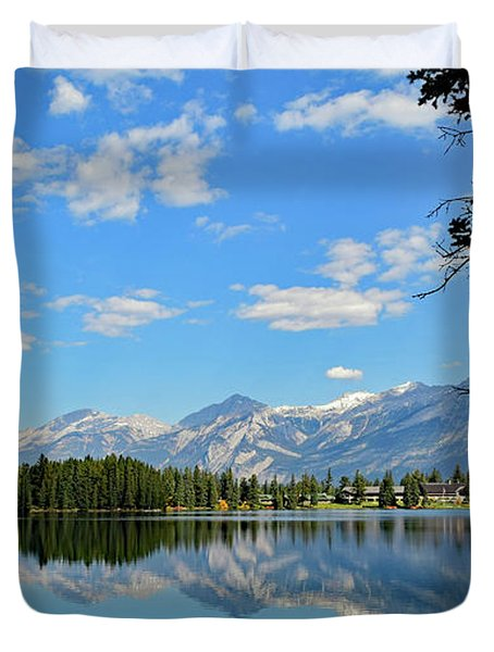 Canadian Rockies No. 4-1 Duvet Cover