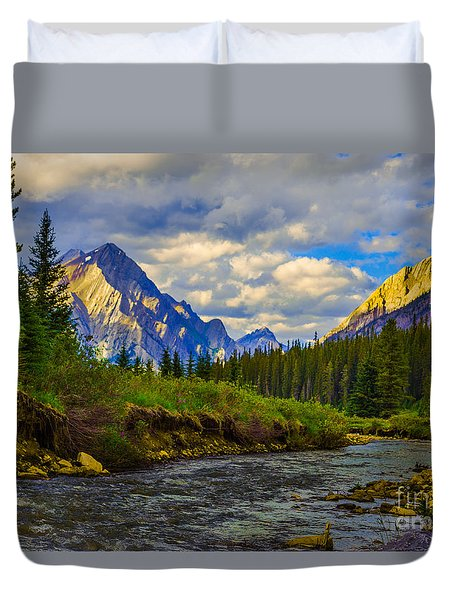 Canadian Rocky Mountains Duvet Cover by John Roberts