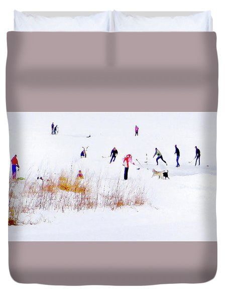 Duvet Cover featuring the photograph Canadiana by John Poon