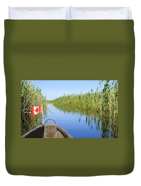 Canadians In Africa Duvet Cover