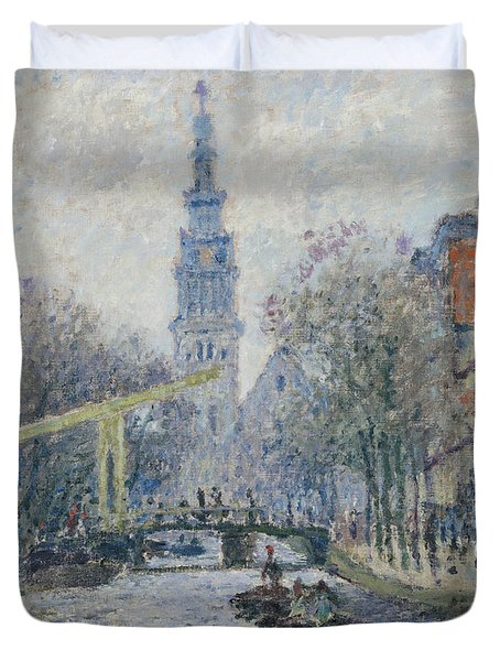 Canal Amsterdam Duvet Cover