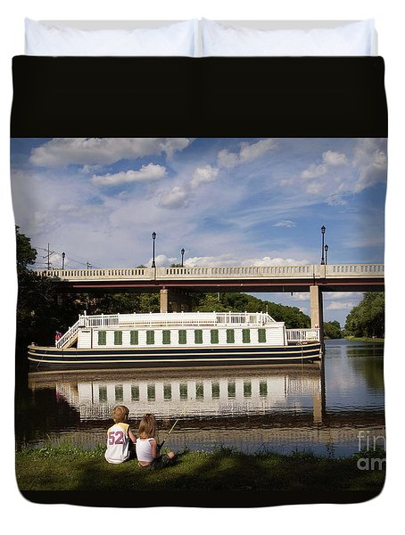 Canal Boat  Duvet Cover
