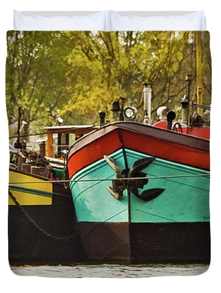 Canal Boats Duvet Cover