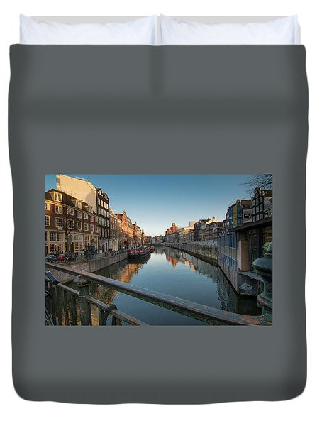 Canal From The Bridge Duvet Cover