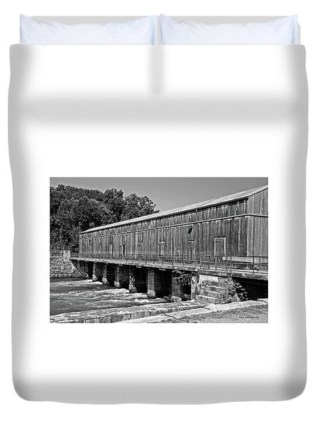 Canal Headgates Duvet Cover by Kay Lovingood
