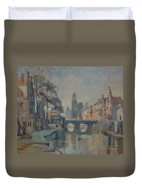 Canal In Utrecht Duvet Cover
