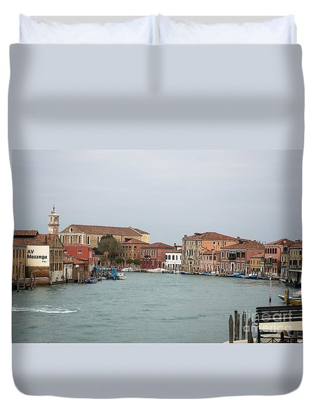 Canal Of Murano Duvet Cover