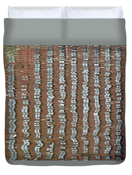 Canal Reflections 4 Duvet Cover
