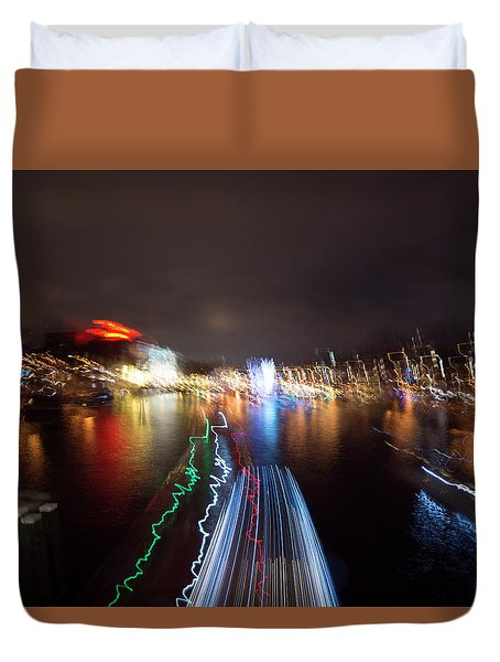Canal Streaking Abstract Duvet Cover