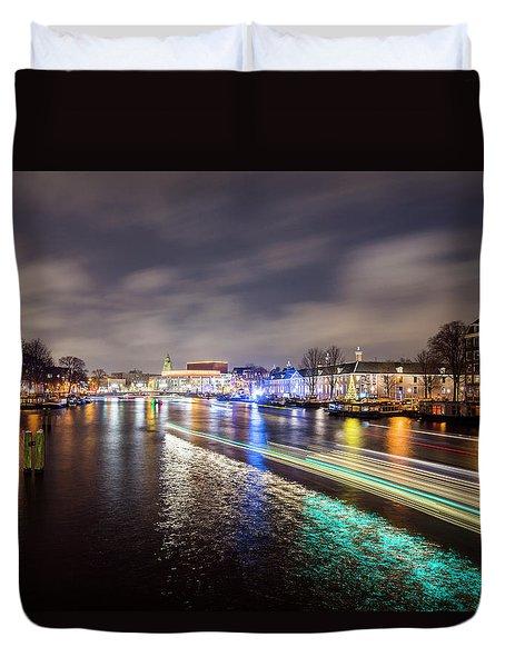 Canal Streaking Iv Duvet Cover