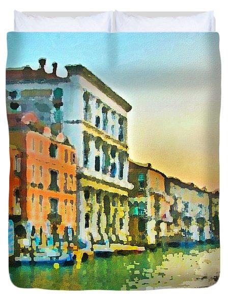 Canal Sunset - Venice Duvet Cover