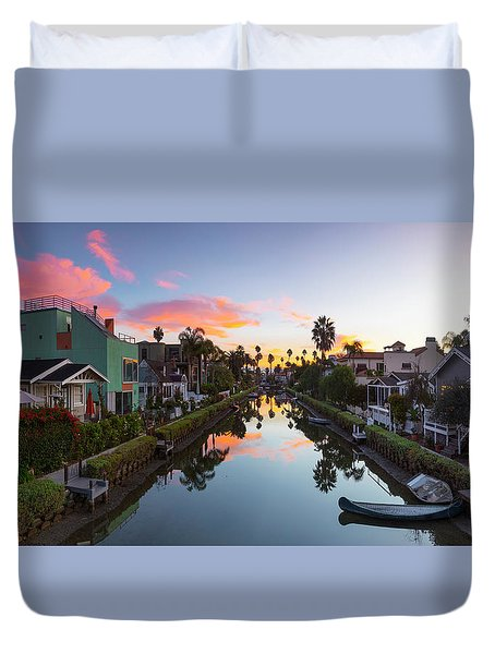 Canals Of Venice Beach Duvet Cover
