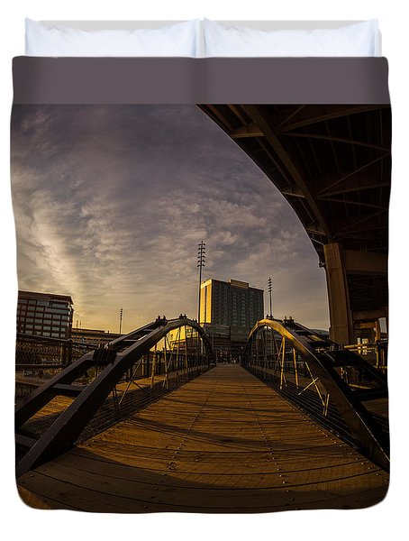 Duvet Cover featuring the photograph Canalside Dawn No 5 by Chris Bordeleau